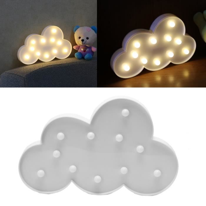 ebuy veilleuse led en nuage forme pour enfants b b blanc lampe achat vente veilleuse ebuy. Black Bedroom Furniture Sets. Home Design Ideas