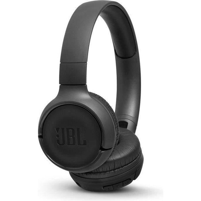 CASQUE - ÉCOUTEURS JBL T500 Bluetooth Noir - Casque sans fil - Autono