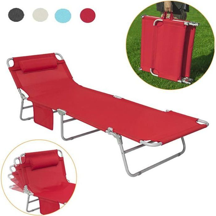Sobuy Ogs35 R Bain De Soleil Transat De Jardin Chaise Longue Pliant Chaise De Camping Inclinable Pliable Et Reglable Rouge Achat Vente Chaise Longue Bain De Soleil Ogs35 R Cdiscount