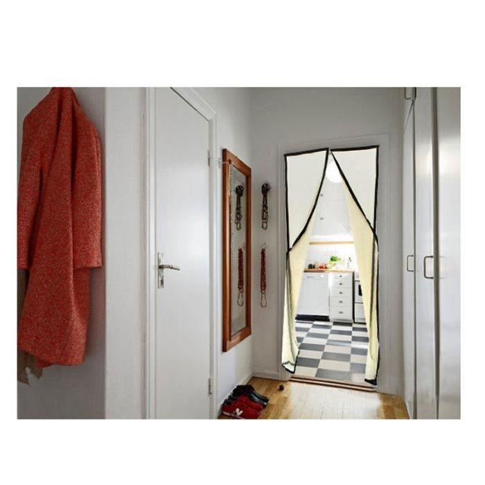 MOUSTIQUAIRE OUVERTURE Porte à moustiquaire 210 * 100cm Rideau avec aiman