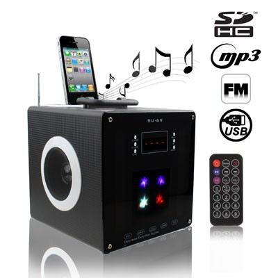 enceinte iphone ipod universelle usb sd mp3 su69 station d 39 accueil prix pas cher cdiscount. Black Bedroom Furniture Sets. Home Design Ideas
