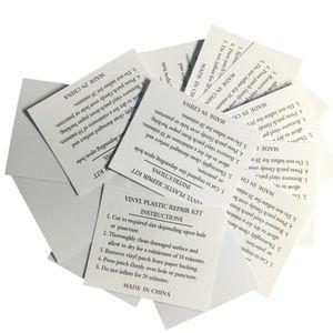 SOLVANT DE NETTOYAGE 10pcs Patchs de réparation de PVC carré gris clair