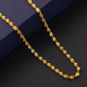 CHAINE DE COU SEULE 3 pièces gros fine chaîne plaqué or jaune 18 carat