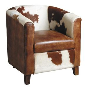 fauteuil club cuir marron achat vente fauteuil club. Black Bedroom Furniture Sets. Home Design Ideas