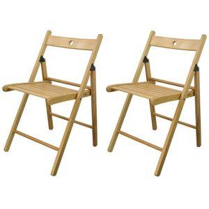 en de pliantes Lot chaises bois qMVpUGzS