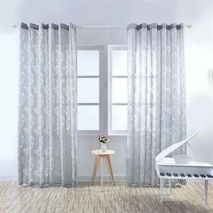VOILAGE 1pcs 100X200CM Rideaux Voilage pour Porte Fenêtre,