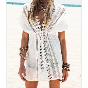 ROBE DE PLAGE CAFTAN Jupe de plage de bikini blanc Plage Kaftan