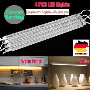 ECLAIRAGE DE MEUBLE 4pcs LED Lampe pour montage Sous Meuble Placard Lu