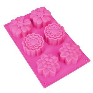 MOULE  6 cavité fleur en forme de silicone savon fait mai