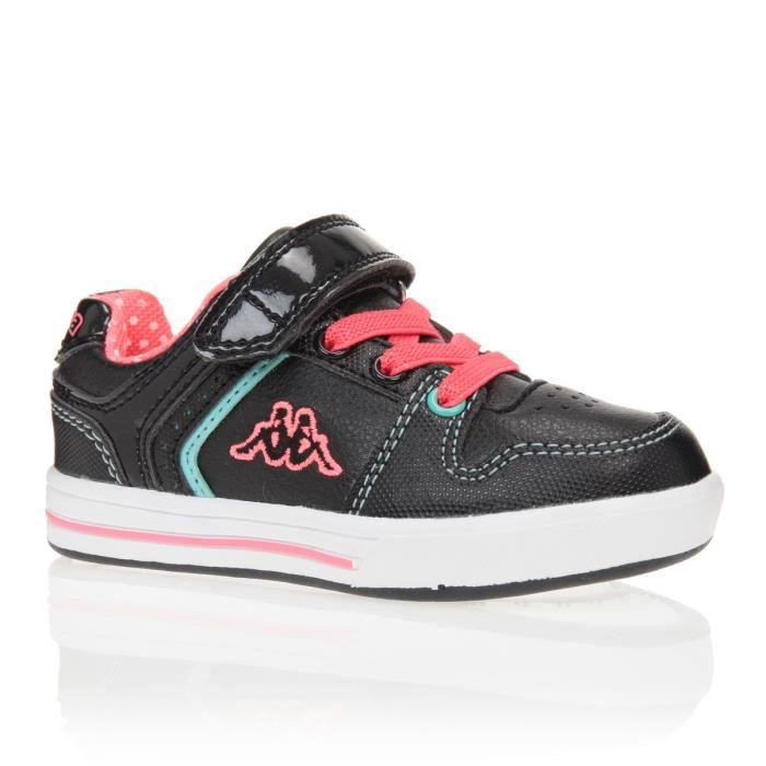 kappa baskets reggia chaussures enfant fille noir et rose achat vente basket cdiscount. Black Bedroom Furniture Sets. Home Design Ideas