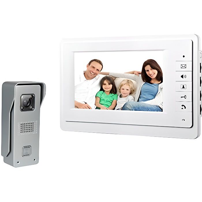 7 pouces TFT LCD Monitor Video Door Phone Intercom Home Security Night View système Sonnette caméra