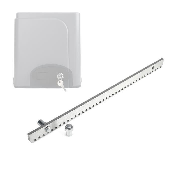 505 x 30 x 8 mm Crémaillères pour Portail Coulissant, Capacité de Max. 800kg, Couleur Chrome