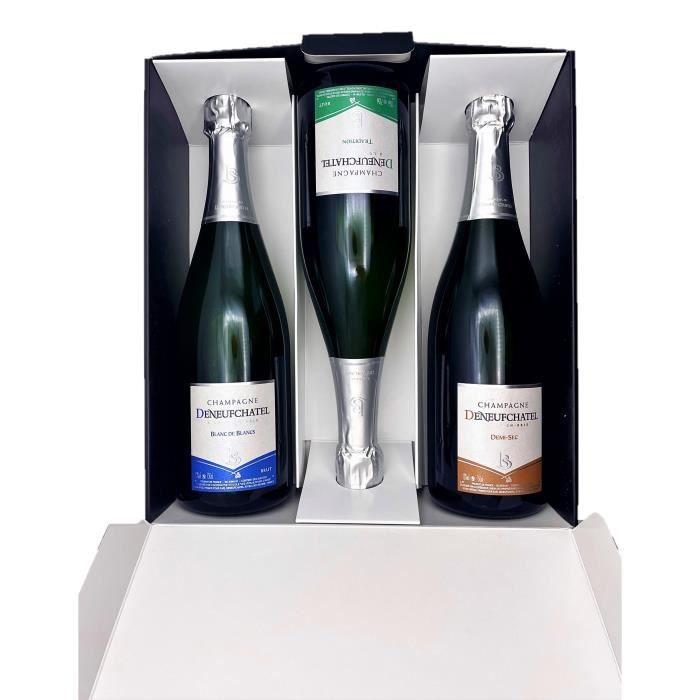 Coffret dégustation Champagne Deneufchatel 75cl direct producteur