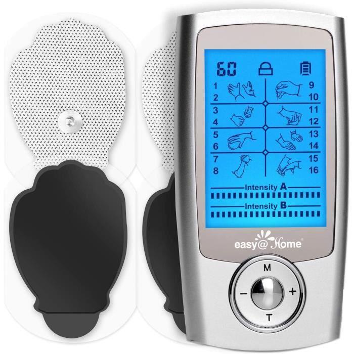 Easy@Home Électrostimulateur TENS Anti-Douleur Et Électrostimulation Musculaire EMS Rééducation Soulagement des Douleurs Massages 16