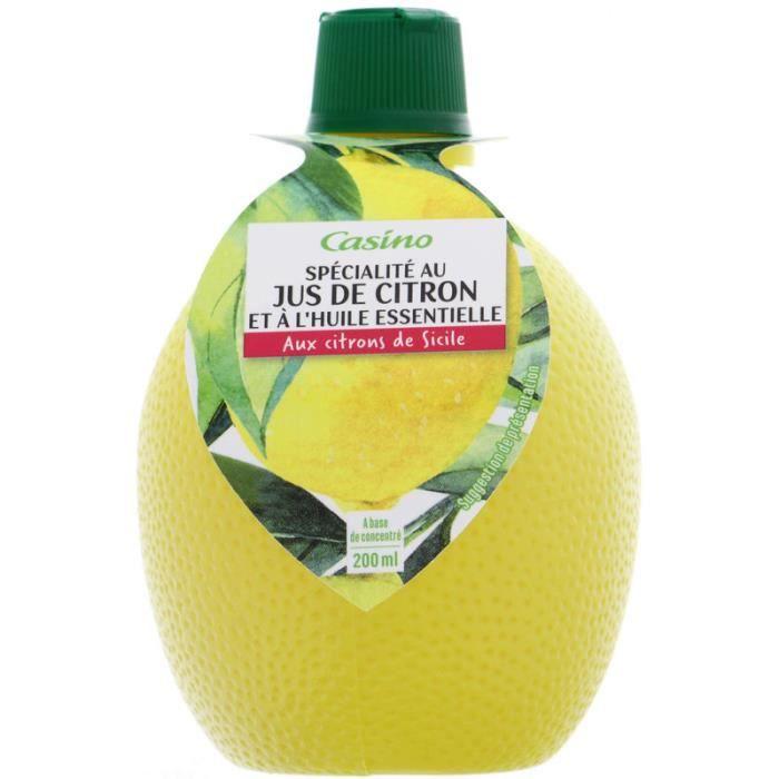 CASINO Jus de Citron - 200ml