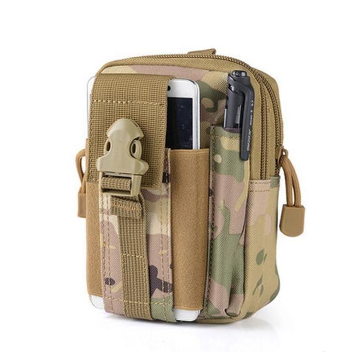 CP -Poche tactique de ceinture, sacoche pour homme,petit sac militaire pour la course, le camping, housse pour téléphone portable, é