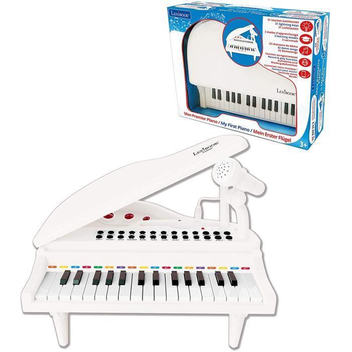 Lexibook-Mon Premier Piano pour Enfants, Touches Lumineuses, Fonction Enregistrement, Ajustement Tempo et Volume, 29cm, Lecteur Audi