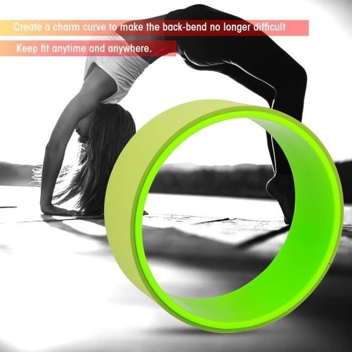 Cercle d'équilibre Stretch Bend Roue de yoga pour exercice d'amincissement - Vert