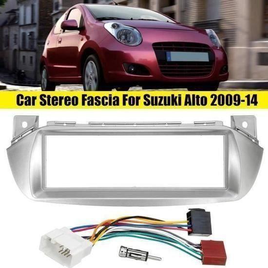 Kit Montage Adaptateur Cadre de Radio Façade Autoradio 1 DIN Pour Suzuki Alto 2009-2014 SA45303