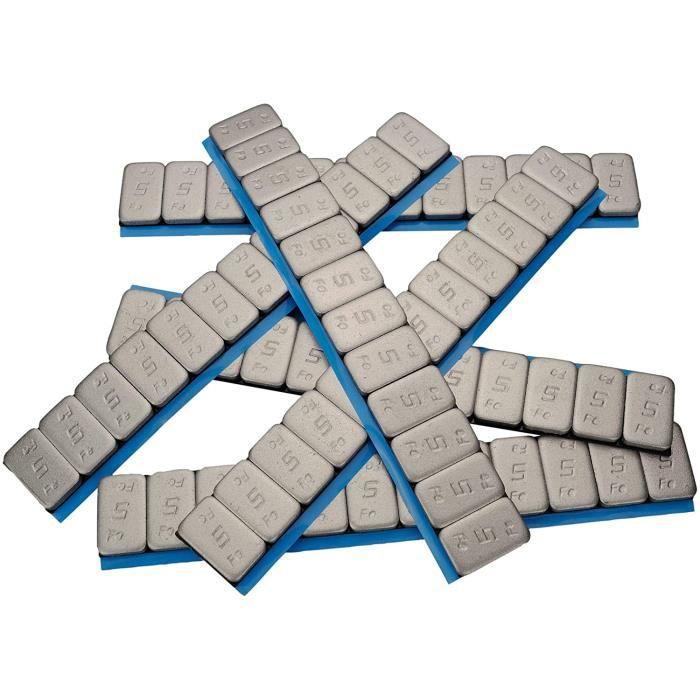 100x Haskyy Masses D'Équilibrage 12x5g Poids 6KG Poids D Barre Adhésive 60g avec Décollement