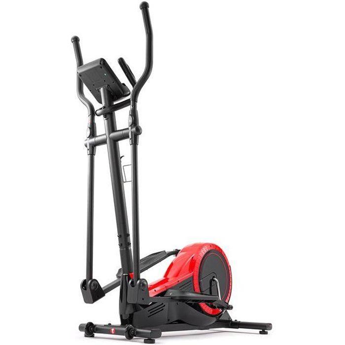 Vélo elliptique HS-050C Frost Rouge de Hop-Sport - résistance réglable 32 niveaux, 12 programmes d'entraînement