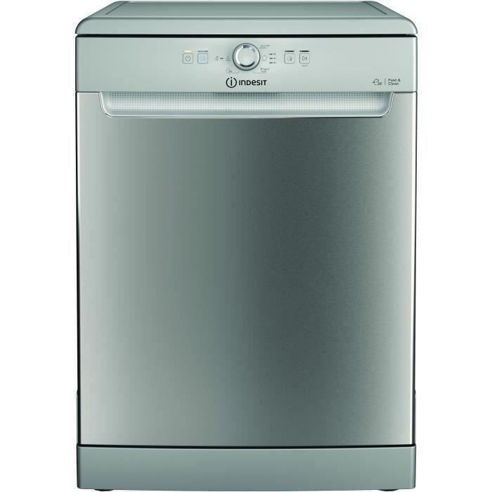 Lave-vaisselle pose libre INDESIT DFE1B19X - 14 couverts - L60cm - 49dB - Inox