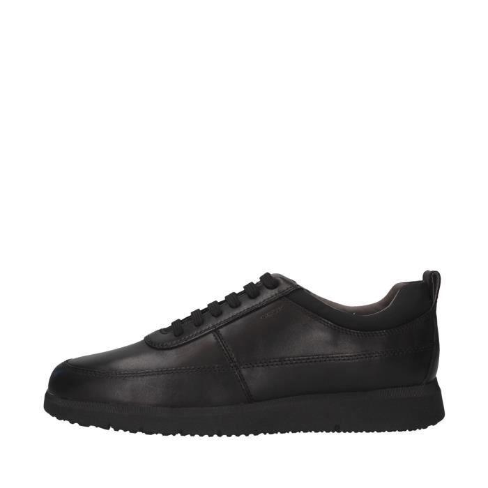 Geox U04AYD00085 chaussures de tennis faible homme NOIR