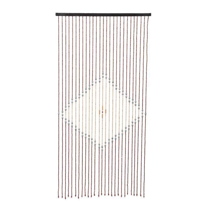 Rideaux de porte de perle en bois Carré de rideau en perles