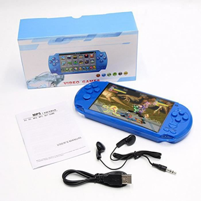 ROGUCI X9S Game Player 5000 Jeux intégrés 8Gb Télécharger gratuitement la Vidéo Console Retro PSP avec Musique et Caméra Microphone