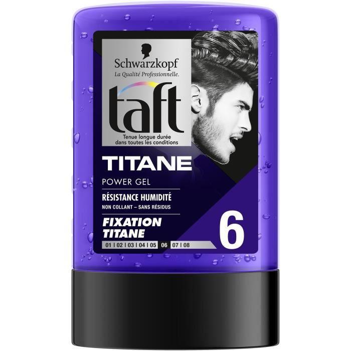 SCHWARZKOPF Taft - Gel Cheveux coiffant - Power Gel Titane - Flacon 300 ml