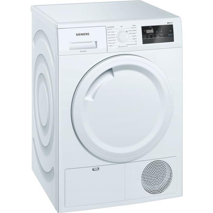 Sèche-linge à condensation SIEMENS WT43N207FF - 7 kg - Moteur induction - Blanc