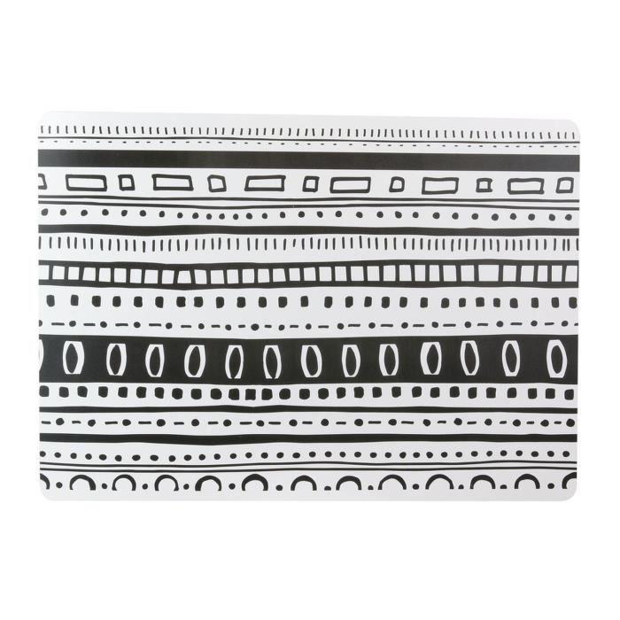 Set de table ethnique Ethnical - L. 42 x l. 32 cm - Noir