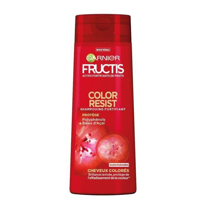 GARNIER FRUCTIS Shampooing - fortifiant - couleur Resist Fructis - 250 ML