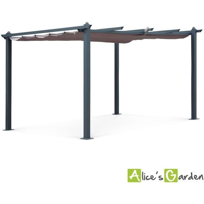 pergola 3m sur 4m achat vente pergola 3m sur 4m pas cher cdiscount. Black Bedroom Furniture Sets. Home Design Ideas