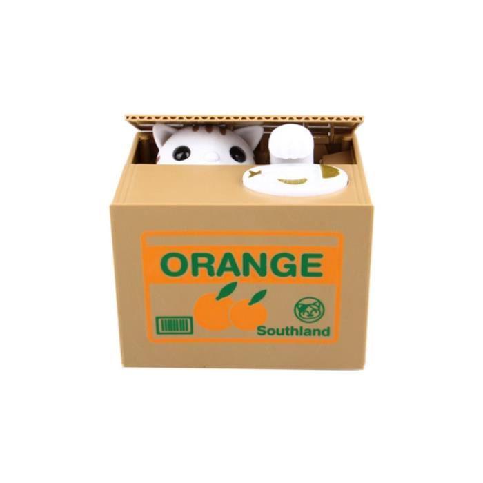 Cat Coin Bank Money Saving Box Automatique Vol Boîte d/'économie d/'argent Cadeau