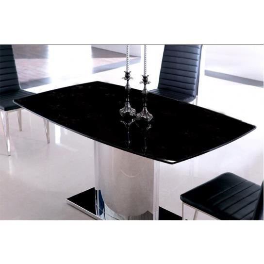 Table a manger verre noire solutions pour la d coration for Table a manger noir