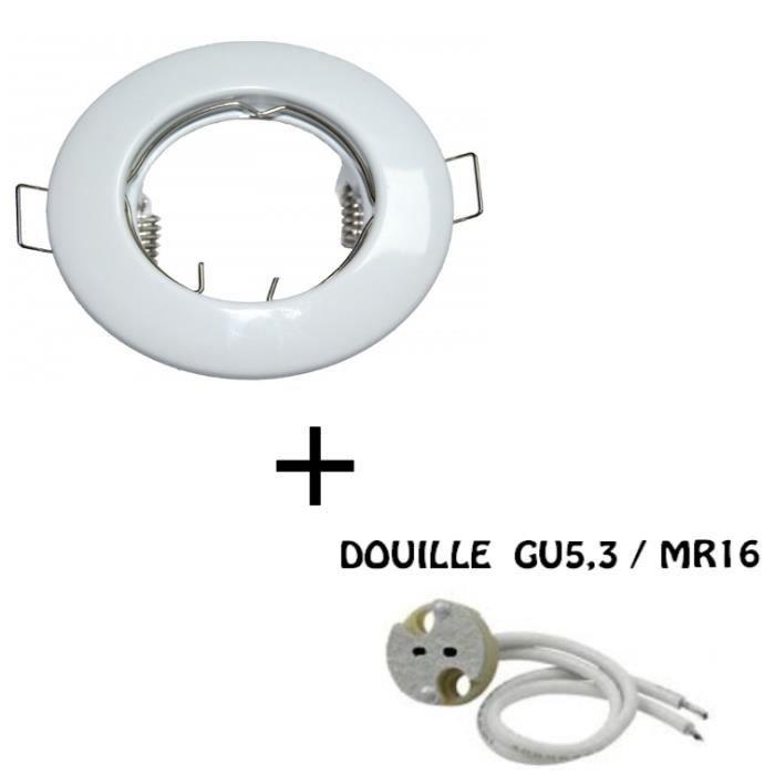 Fixation De Spot Encastrable Modele Classic White Fixe Douille Mr16 Gu5 3 Achat Vente Fixation De Spot Encastrabl Cdiscount