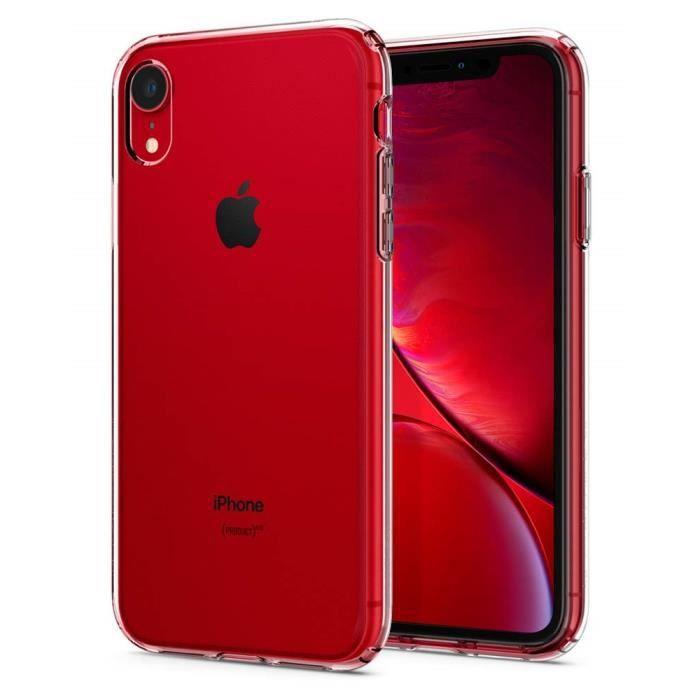 NEWC Coque iPhone XR ULTRAT RANSPARENTE Silicone en Gel TPU Souple pour iPhone XR Coque de Protection avec Absorption de Choc et Anti-Scratch
