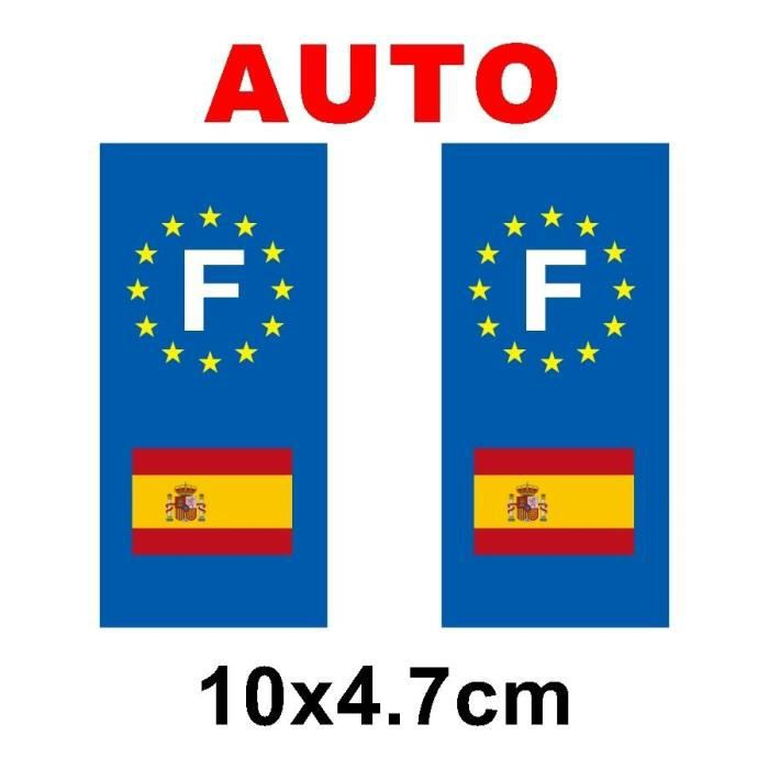 sticker pour plaque auto drapeau espagne achat vente d coration v hicule sticker drapeau. Black Bedroom Furniture Sets. Home Design Ideas