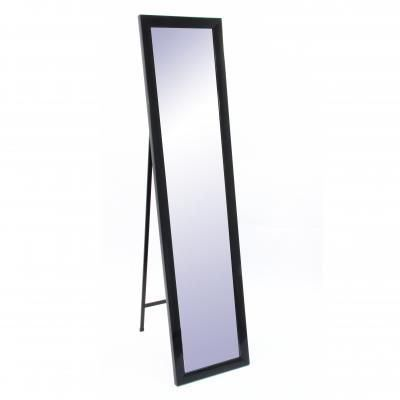 miroir sur pied noir achat vente cadre photo cdiscount. Black Bedroom Furniture Sets. Home Design Ideas