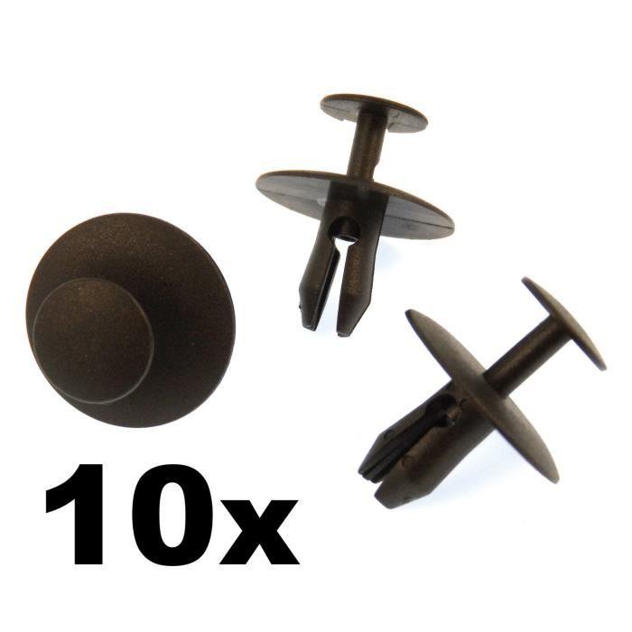 10x Voiture Universel Plastique Rivets Garniture Porte Pare-chocs Fender Fastener Clips M6 6 mm