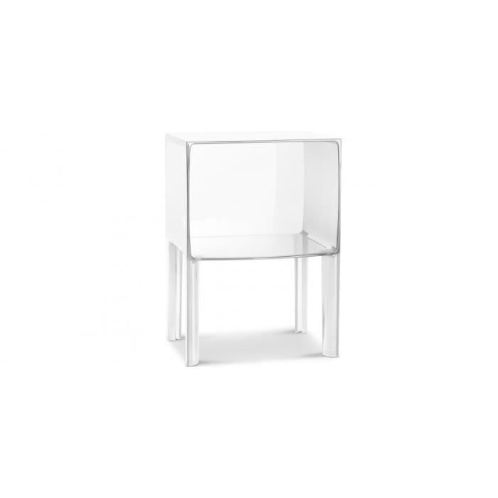 table de chevet transparente ghost buster inspir achat