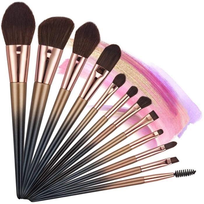 Accessoires de maquillage et outils Pinceau Maquillage, 12 Kit Pinceaux  Maquillage, Pinceau Fond de Teint, Pinceau Blush 26753 - Cdiscount Au  quotidien