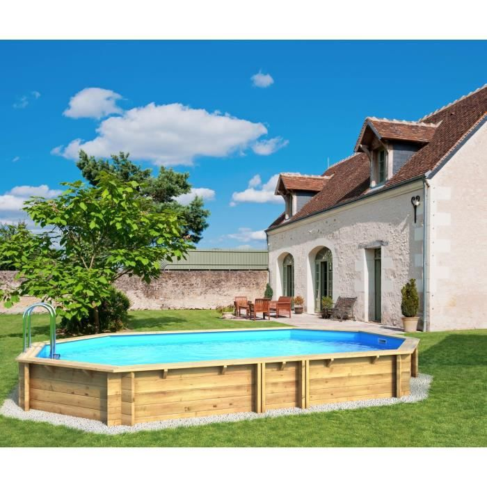 Weva piscine bois octogonale 6 40 x 1 20 m achat for Piscine octogonale