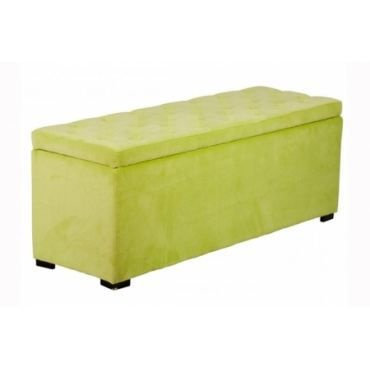 banquette coffre velours capitonn vert anis achat. Black Bedroom Furniture Sets. Home Design Ideas