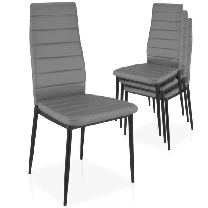 lot de 4 chaises stratus empilables gris achat vente chaise m tal cdiscount. Black Bedroom Furniture Sets. Home Design Ideas