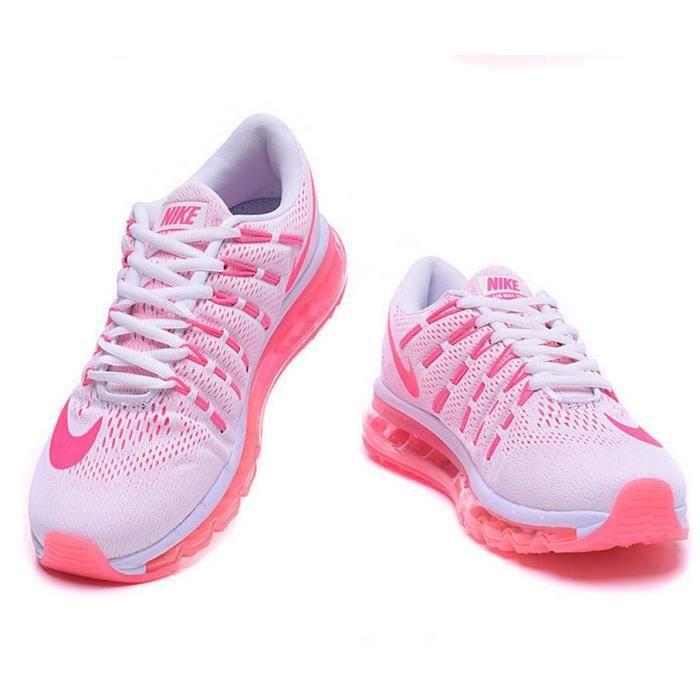 outlet online huge inventory preview of Femmes Nike Air Max 2016 Baskets Chaussures de running blanc rose ...