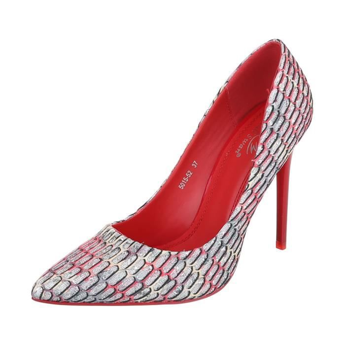 Chaussures femme escarpin High Heels rouge Multi 40