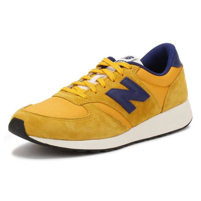 New Balance Hommes Jaune - Bleu Suède 420 Re-EngineeRouge Basket ... 8652532e3a82