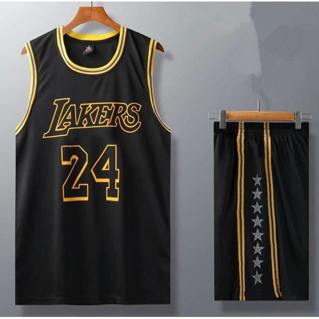 Bleu jaune blanc 09 Classique Jersey Bryant Los Lakers Sweat non d/éformable ZDFG Kobe # 24 Maillot de basketball pour enfant Angeles 2008 noir